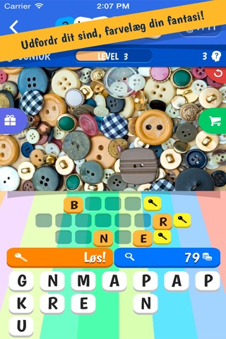 3 Words: Colorful – find three secret words in one crazy colorful picture screenshot 4