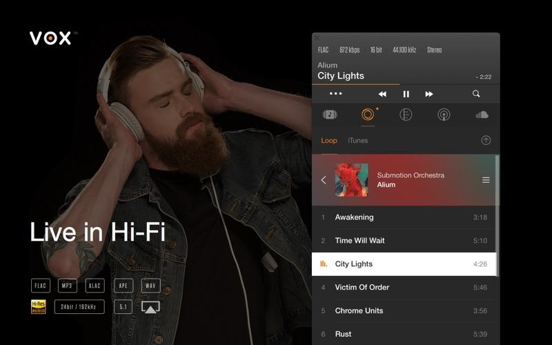 Screenshot #1 for VOX: Music Player & SoundCloud Streamer