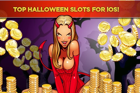 The Halloween Witch Girl's Hot Sexy Slot Casino - Haunted Pumpkin Slots Mania screenshot 1