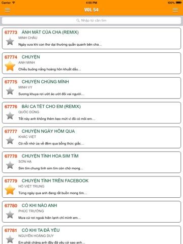 Screenshot #6 pour VN Karaoke Pro - Tra cứu mã số bài hát 5,6 số karaoke Airang, MusicCore