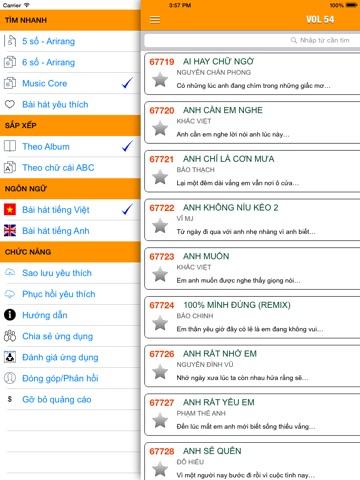 Screenshot #4 pour VN Karaoke Pro - Tra cứu mã số bài hát 5,6 số karaoke Airang, MusicCore