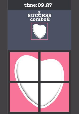 Rotate Heart Cookie Puzzle screenshot 3