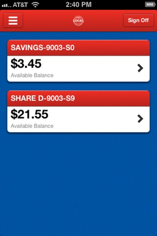 The Local FCU Mobile screenshot 2