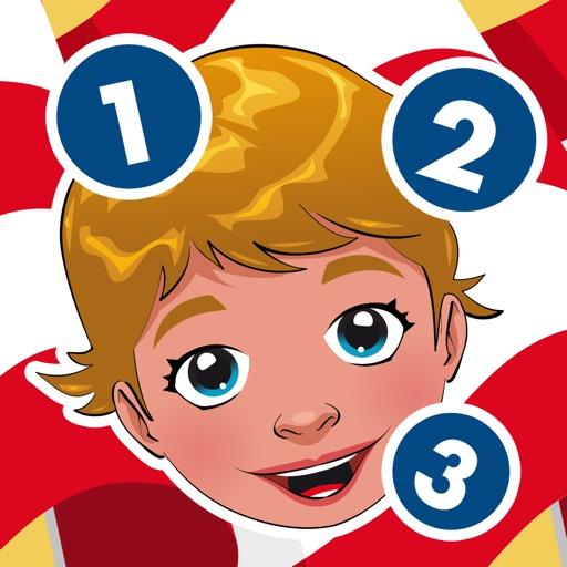 Attivo! Gioco Per i Bambini Per Imparare a Contare 1-10 Around the World
