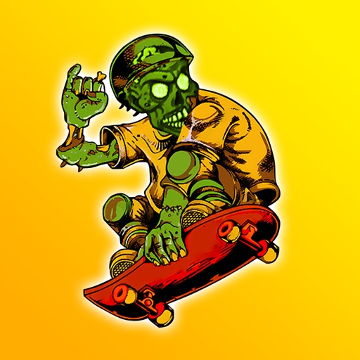 HD Zombie Skateboarder High School - For Kids! Life On The Run Surviving The Fire! iOS App