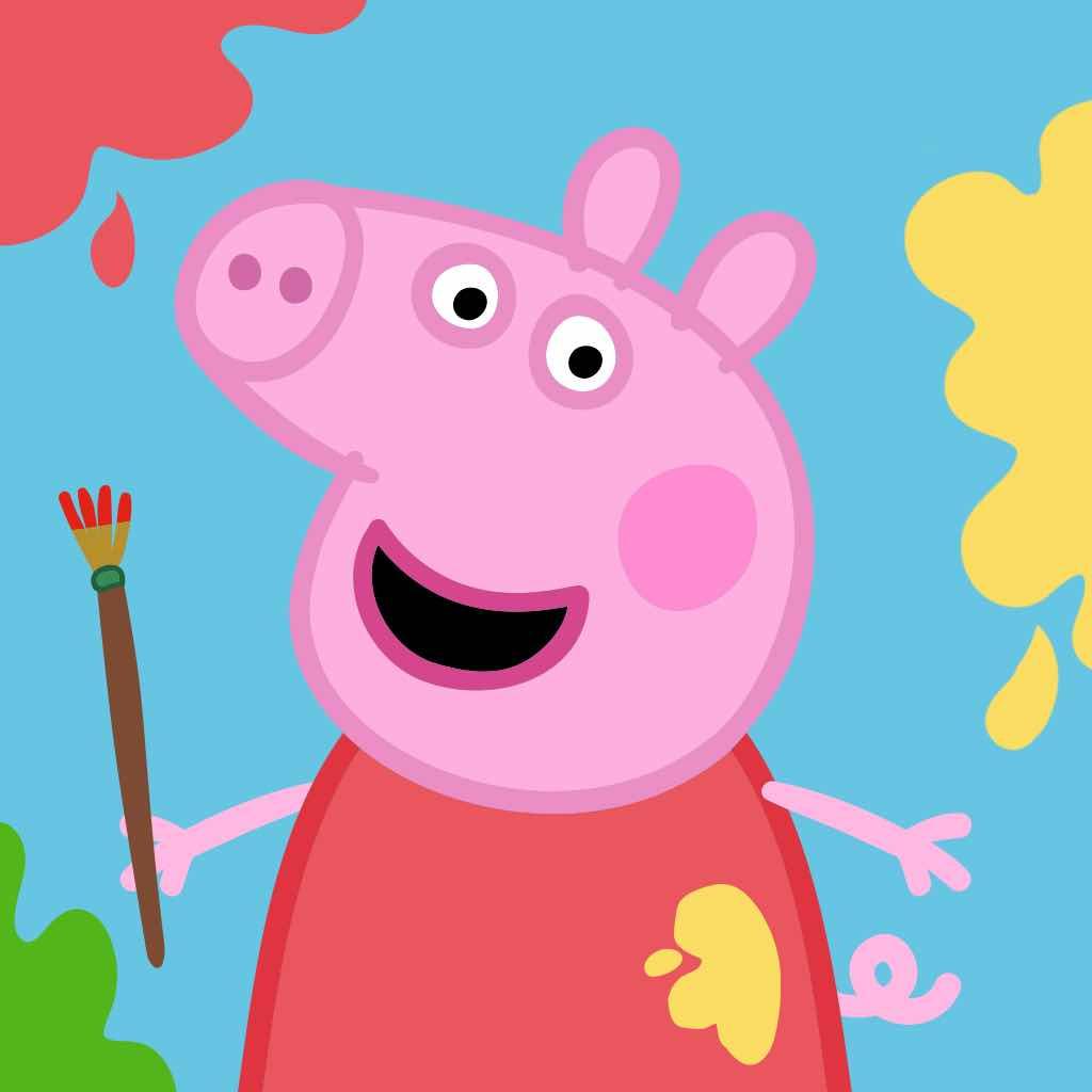 有色彩小猪简笔画