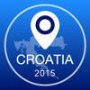 Kroatien Offline Karte + Stadtführer Navigator, Sehenswürdigkeiten und Verkehr
