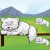 Attivo! Dimensionamento Gioco Per i Bambini di Imparare e Giocare Con i Gatti