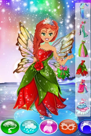 Fairy Dress Up Games for Girls with Dolls & Christmas Princess screenshot 1