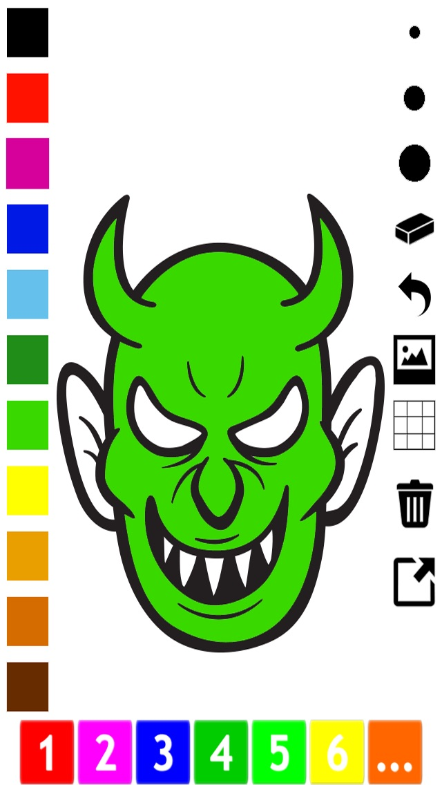 download A spooky Halloween coloring book for children apps 4