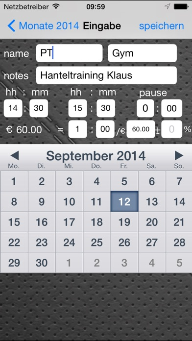 Stunden - Zeiterfassung Скриншоты4