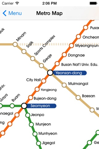 Busan City Metro - South Korean Subway Guide screenshot 1