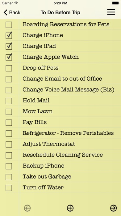 Essential Travel Checklist review screenshots