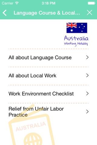 Australia Working Holiday Note screenshot 3