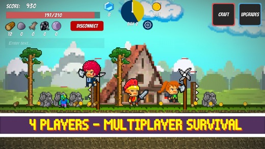 Pixel Survival Game - Retro multiplayer mining crafting survival island Screenshot