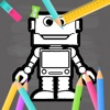 Robot Kids Coloring Book Game