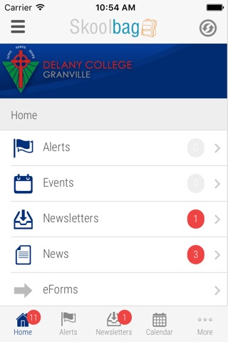 Delany College Granville - Skoolbag screenshot 2