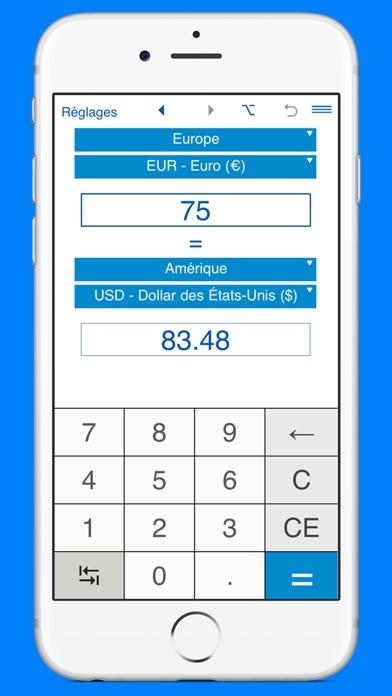 Capture d'écran de Convertisseur de devises et calculateur de monnaie1