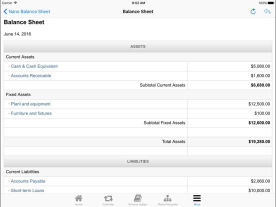 Nano Balance Sheet on the App Store