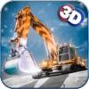スノーショベル3D :ダンプトラックと冬で重機レスキュー