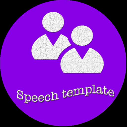 Speech template for PowerPoint
