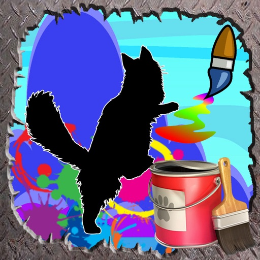Coloring Page For Kids Game cat Edition iOS App