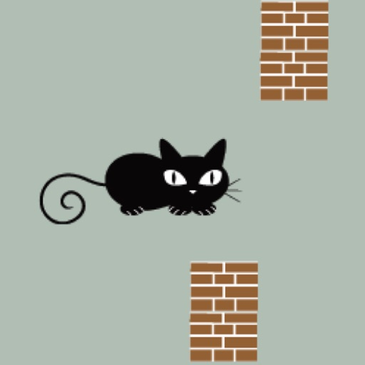 Flappy Cat - avoid pillars and dogs Icon
