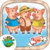 Los tres cerditos  interactivo - Cuentos infantiles para niños