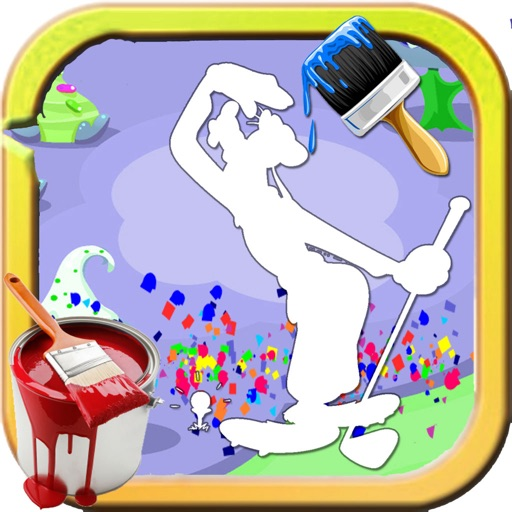 Paint For Kids Games Goofy Edition iOS App