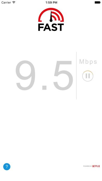 FAST Speed Test Screenshot