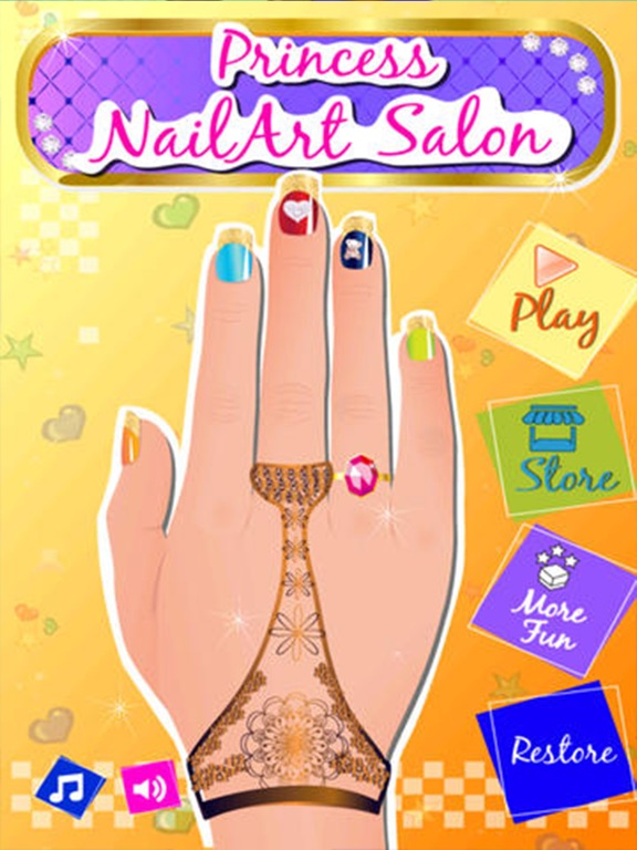 Princess nail art salon girls dressup makeover app price drops screenshot 1 for princess nail art salon girls dressup makeover prinsesfo Gallery