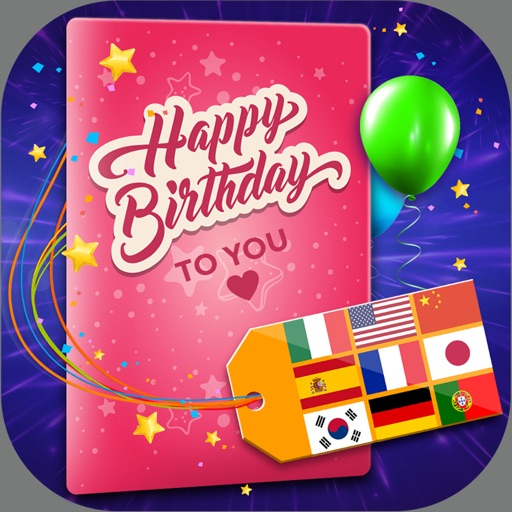 Birthday Cards Multilingual – Free e-Card Creator To Wish Happy B'day In All Language.s iOS App