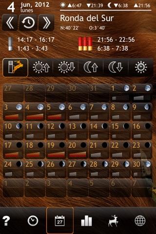 Solunar Calendar - Best Hunting Times and Feeding screenshot 2
