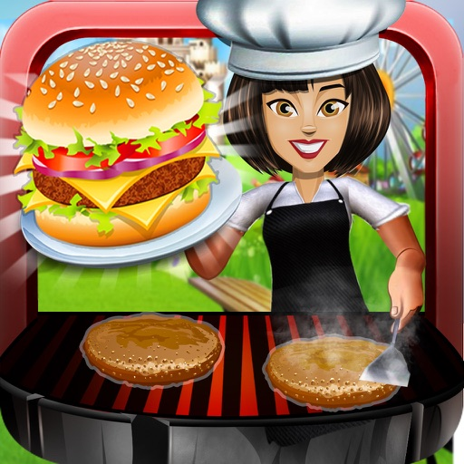 Theme Park Fast Food Cafe : Master-Chef Ham-burger n Pizza Cooking Restaurant iOS App