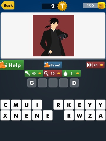 Screenshots of New Anime Fan Quiz Games for FullMetal Alchemist Brotherhood Edition Free for iPad