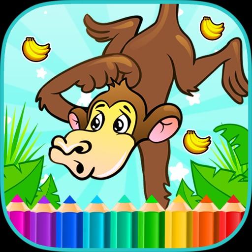 Bananas Monkey Coloring Books iOS App