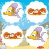 Gioco Memo Animato Gratuito Per i Bambini: Imparare Creature Marine Colorate Con Divertimento