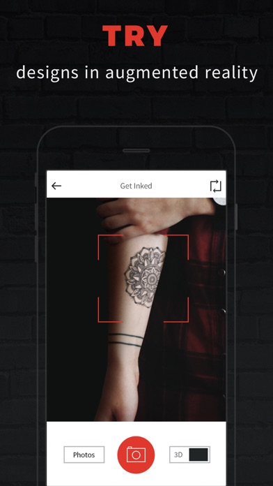 inkhunter try tattoo designs in augmented reality on the app store. Black Bedroom Furniture Sets. Home Design Ideas