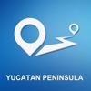 Yucatan Peninsula Offline GPS Navigation & Maps yucatan peninsula crater