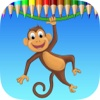 Monkey Coloring Book: Learn to olor and draw a monkey, gorilla and more