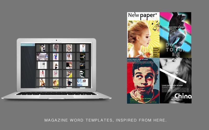 magazine word templates