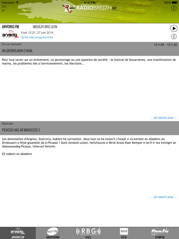 Capture d'écran iPad 2