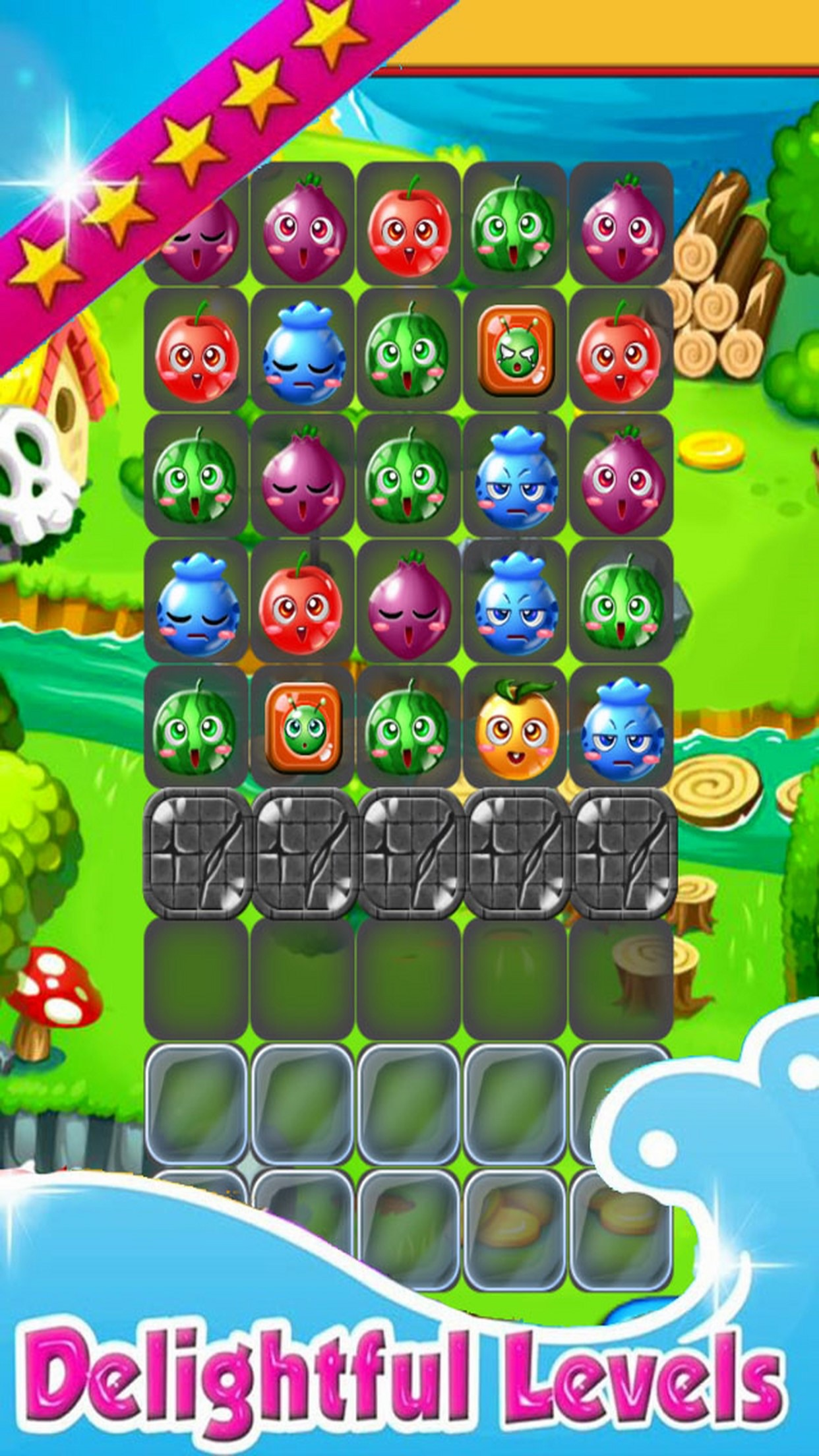 Fruit link deluxe - Fruit Link Match 3 Free Game