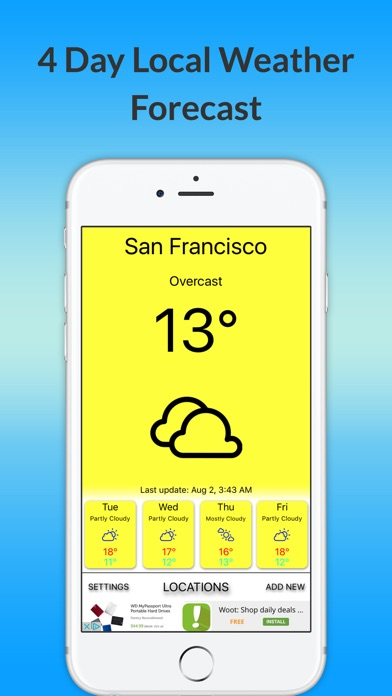 Температуру Prediction- ближайшие 4 дняСкриншоты 1