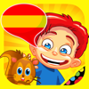 Spanish for kids: play, learn and discover the world - children learn a language through play activities: fun quizzes, flash card games and puzzles