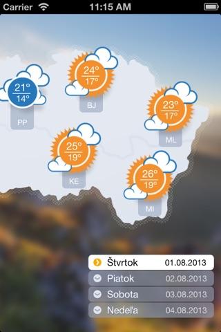 Počasíčko screenshot 4