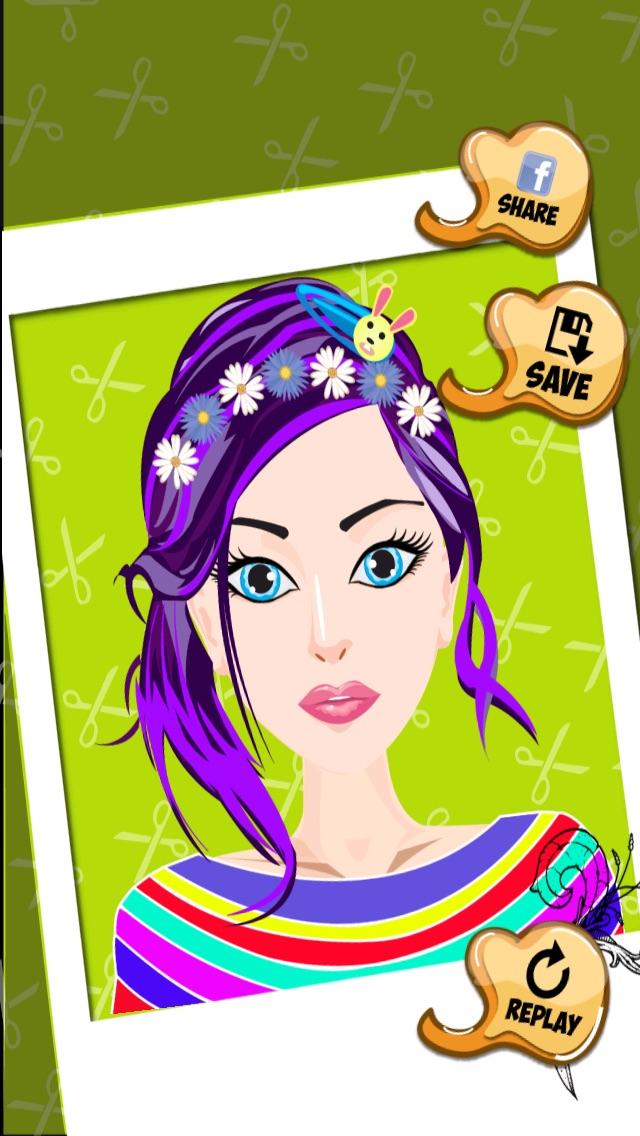 髪のプリンセスドレスアップ - ホットサロン&スパ化粧 - シックな10代の女の子のファッション変身ゲームのスクリーンショット5