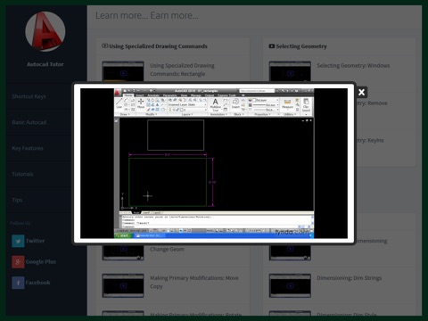 Tutor for Autocad 2D, 3D screenshot 4