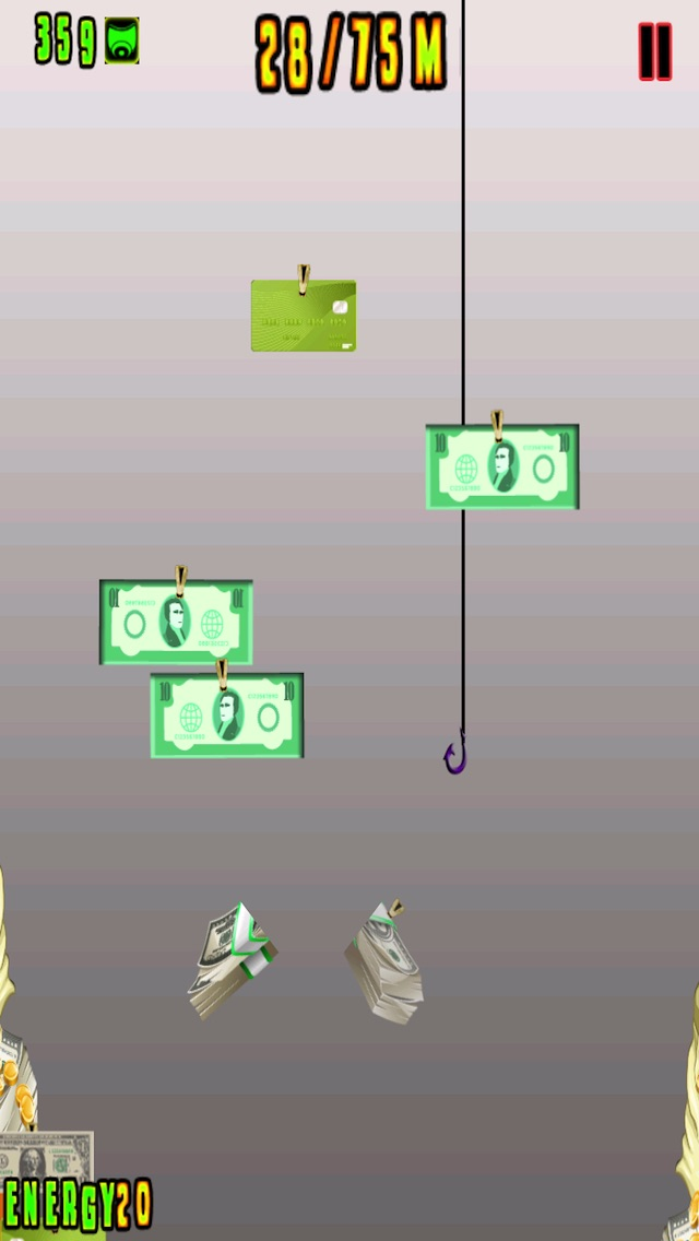 Money grabber fish cash in the bank and grow rich free for Fish for money app