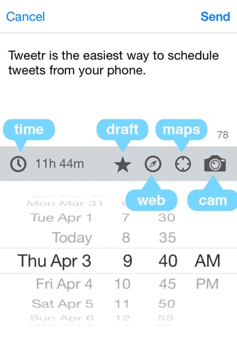 Tweetr - Schedule tweets for Twitter - Your Social Media Management Tool screenshot 3